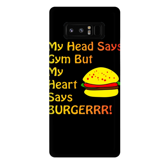 my head says gym but heart says burgerrr