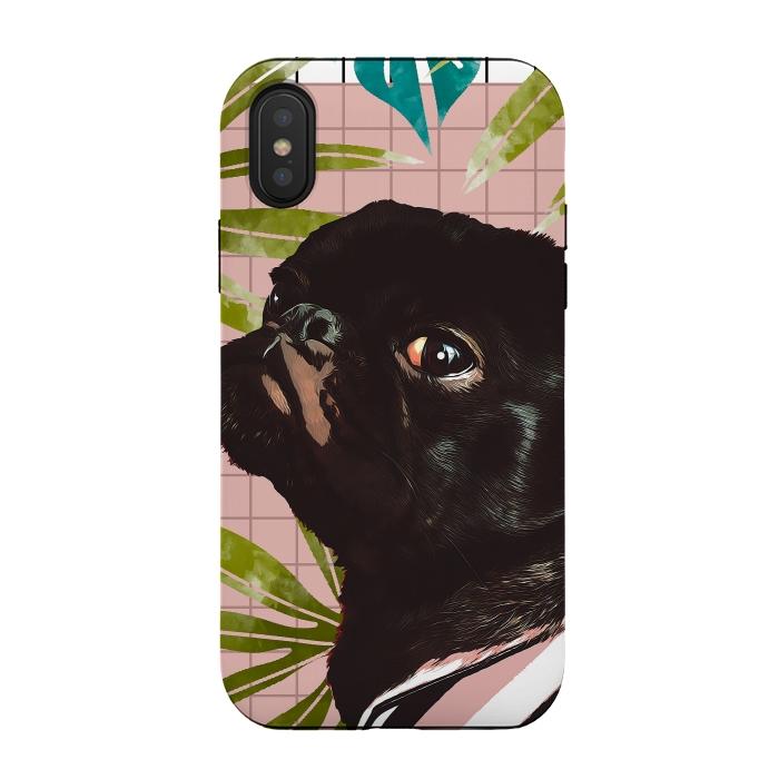 iphone xs case pug