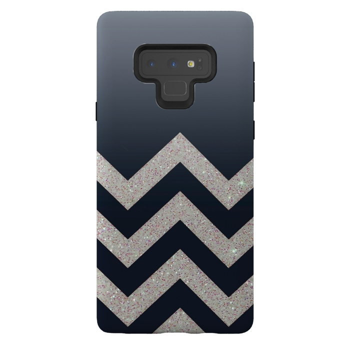 Chevron Block Silver Grey
