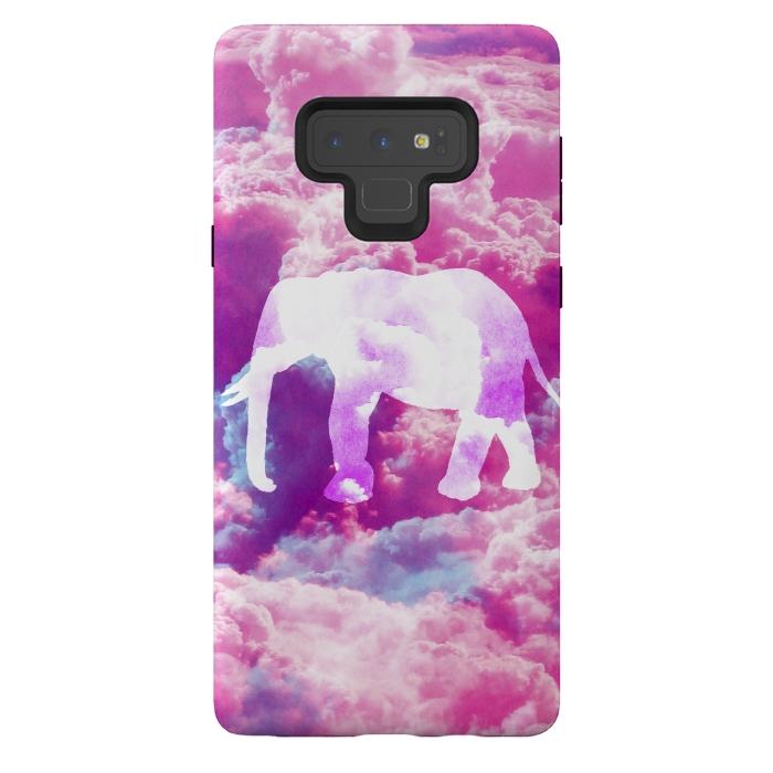 Elephant on Pink Purple Clouds