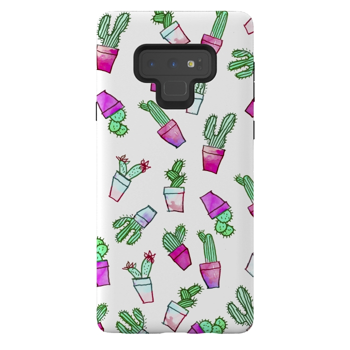 Whimsical Hand Drawn cactus pattern
