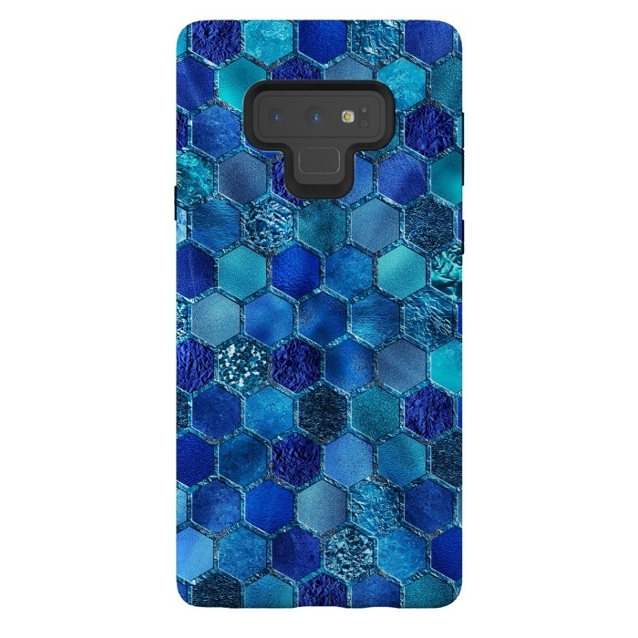 Blue Metal Honeycomb pattern