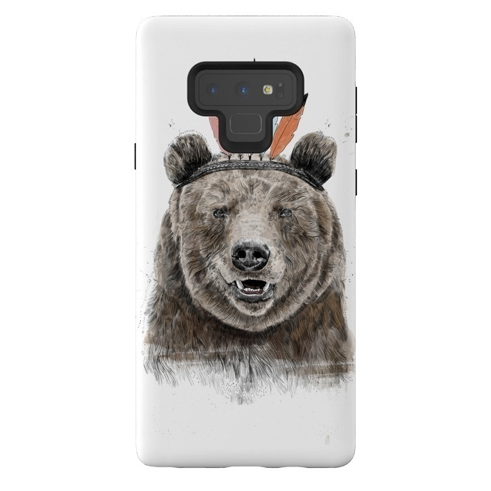 Galaxy Note 9 Cases Festival Bear By Balazs Solti Artscase
