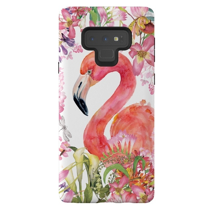 Flamingo in Flower Jungle