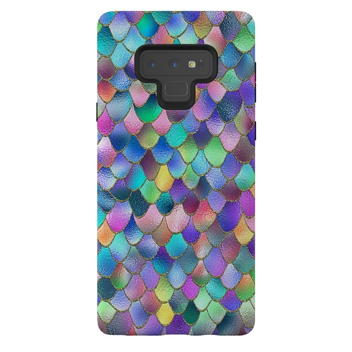 Colorful Carnival Wonky Metal Mermaid Scales