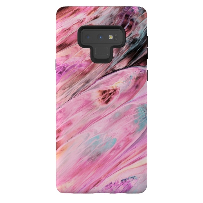 Pink and Black Ink Marble