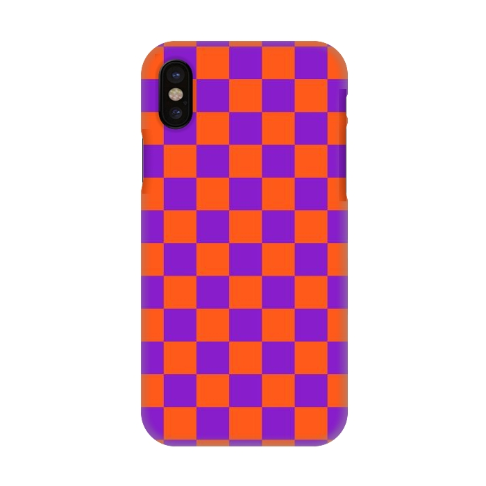 info for 57d72 fce72 iPhone X Cases Checkered Pattern by Art Design Works | ArtsCase
