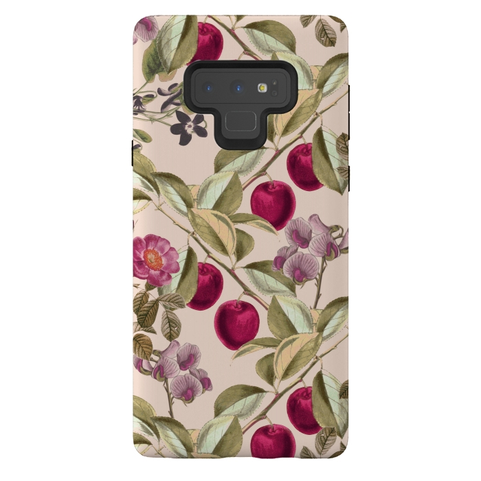 Pink Fruits and Flowers Pattern