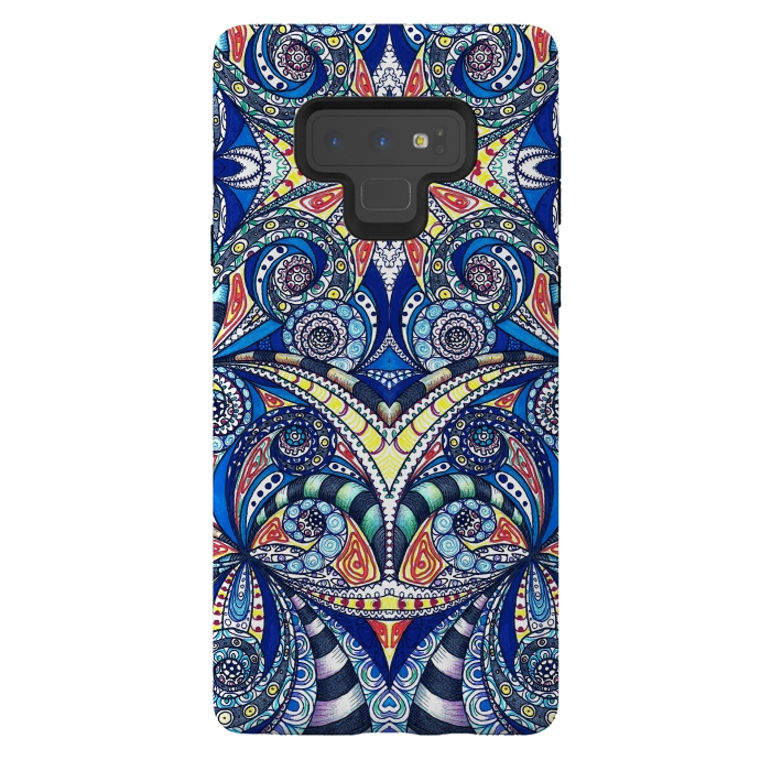 Galaxy Note 9 Cases Drawing Floral by Medusa GraphicArt | ArtsCase