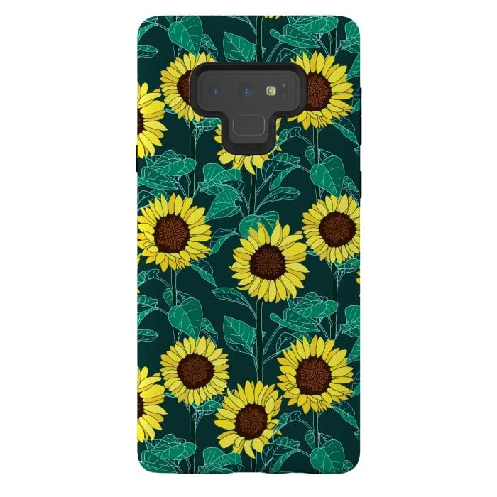 Sunny Sunflowers - Emerald
