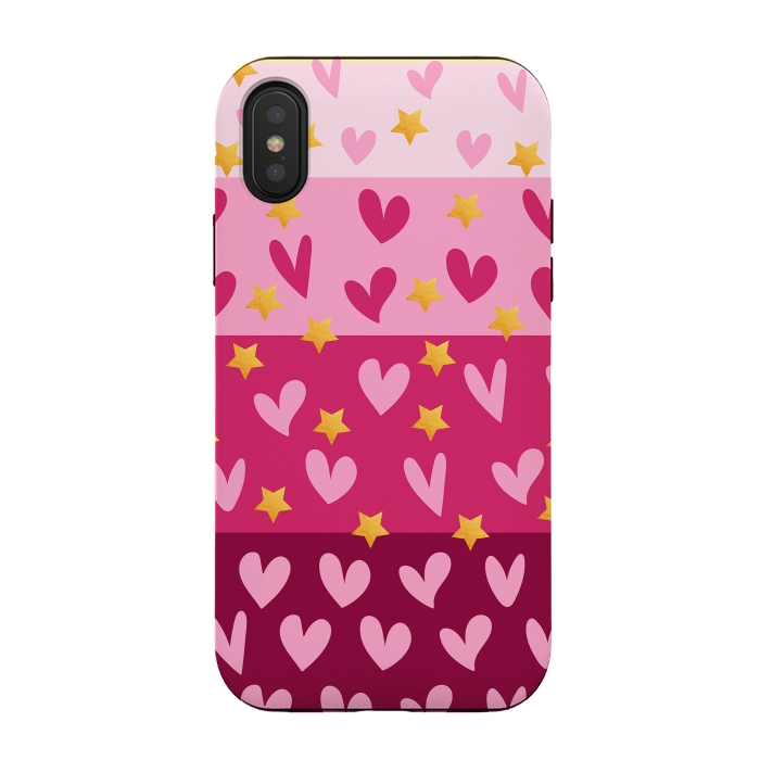 Pink Hearts With Stars