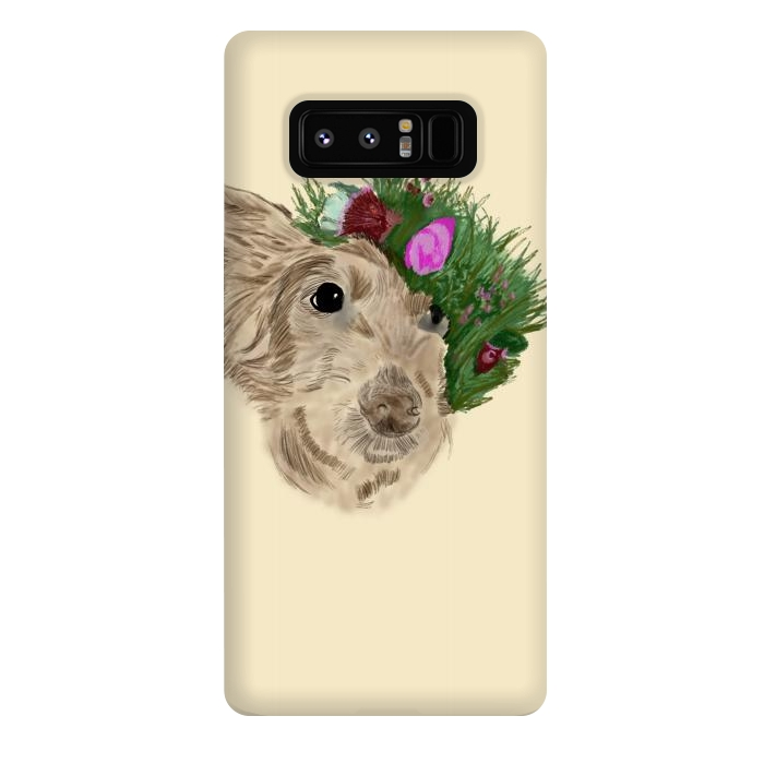Flowers with dog