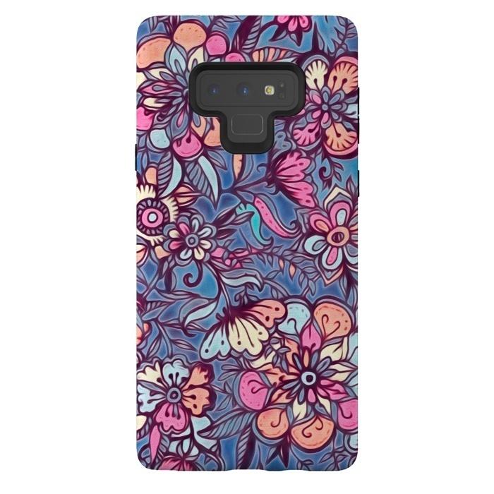 Sweet Spring Floral - soft indigo & candy pastels