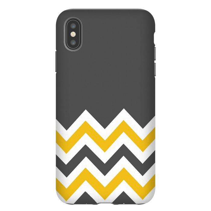 Color Blocked Chevron Mustard Gray