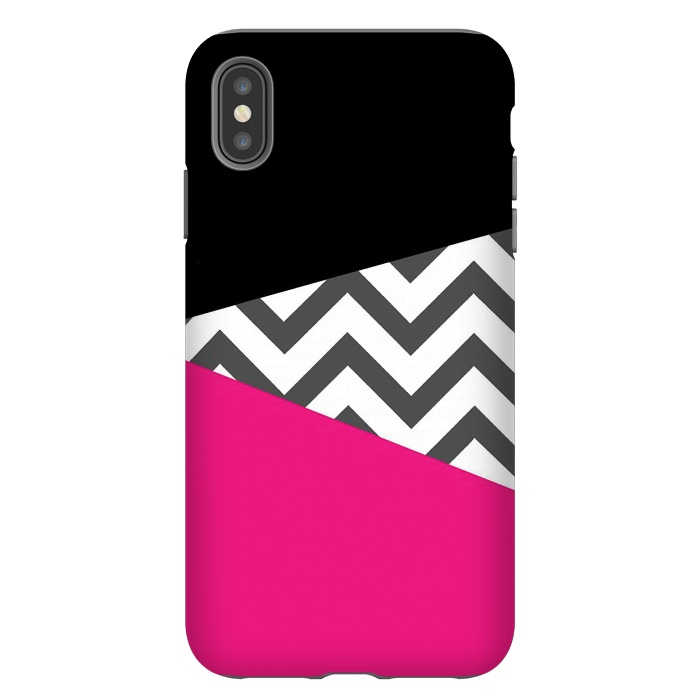 Color Blocked Chevron Black Pink