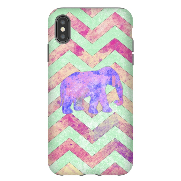 Elephant Mint Green Chevron Pink Watercolor
