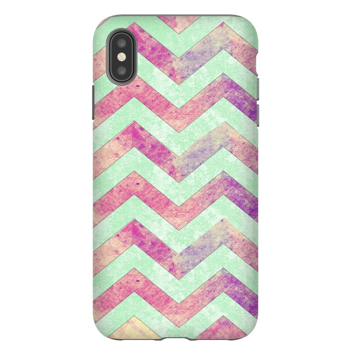 Mint Pink Watercolor Chevron