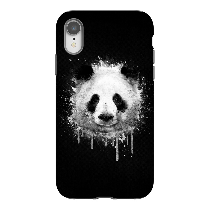 Panda Portrait in Black White