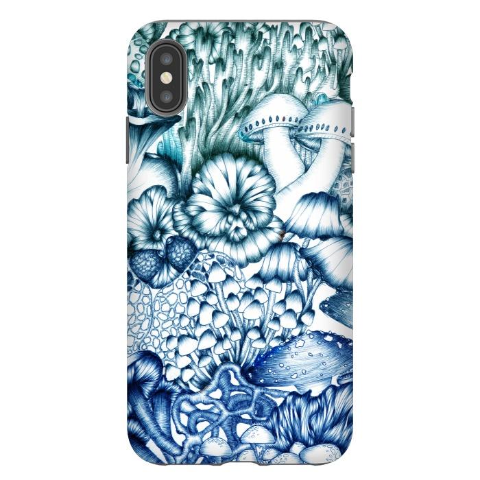 A Medley of Mushrooms in Blue
