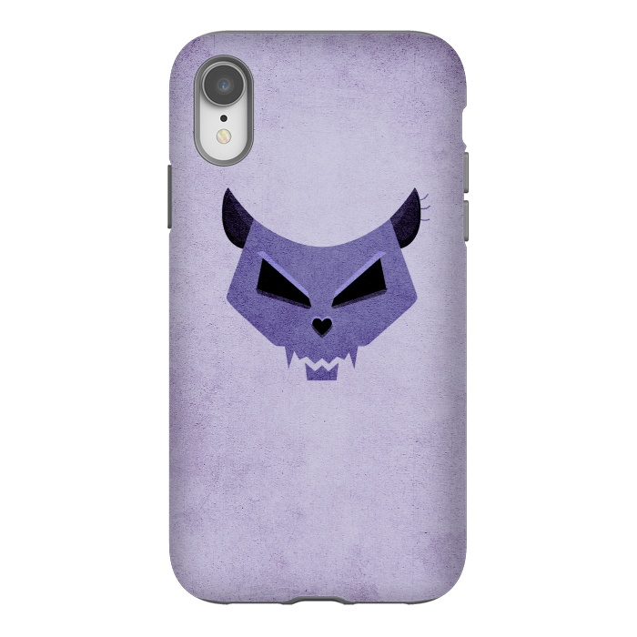 Purple Evil Cat Skull