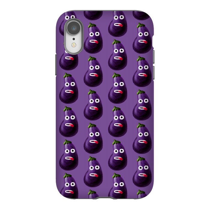 Purple Funny Cartoon Eggplant Pattern