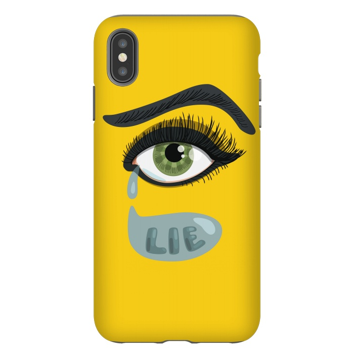 Green Lying Eye With Teardrop