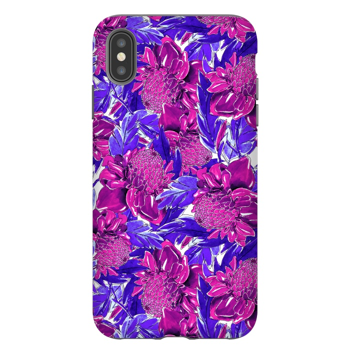 Ultra violet proteas meadow