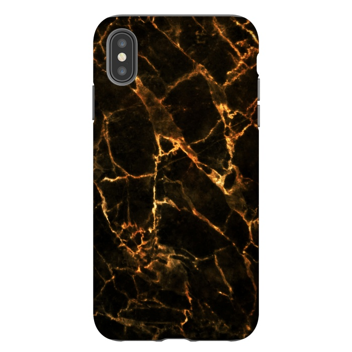 Black marble with golden cracks