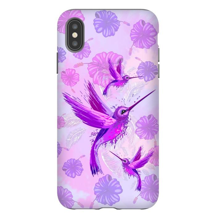 Hummingbird Spirit Purple Watercolor