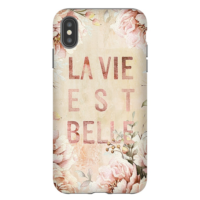 La Vie est Belle - Retro Flower Illustration