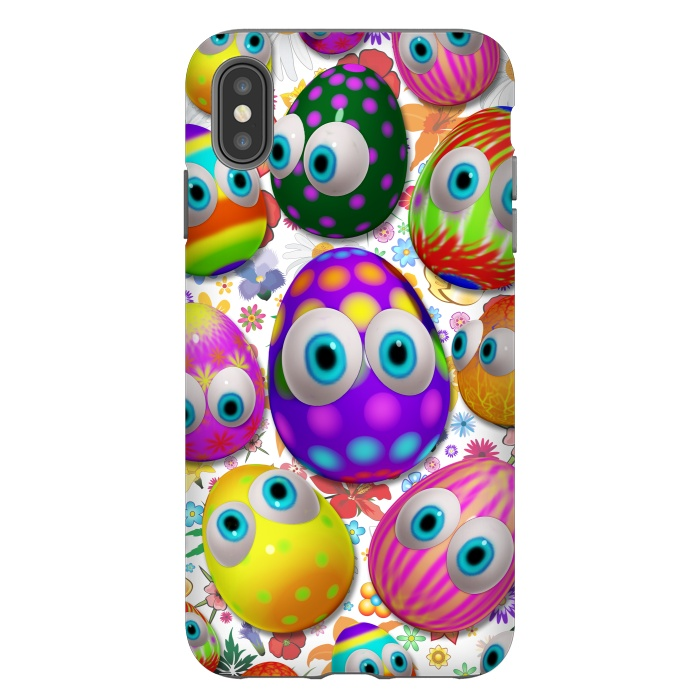 Cute Easter Eggs Cartoon 3d Pattern