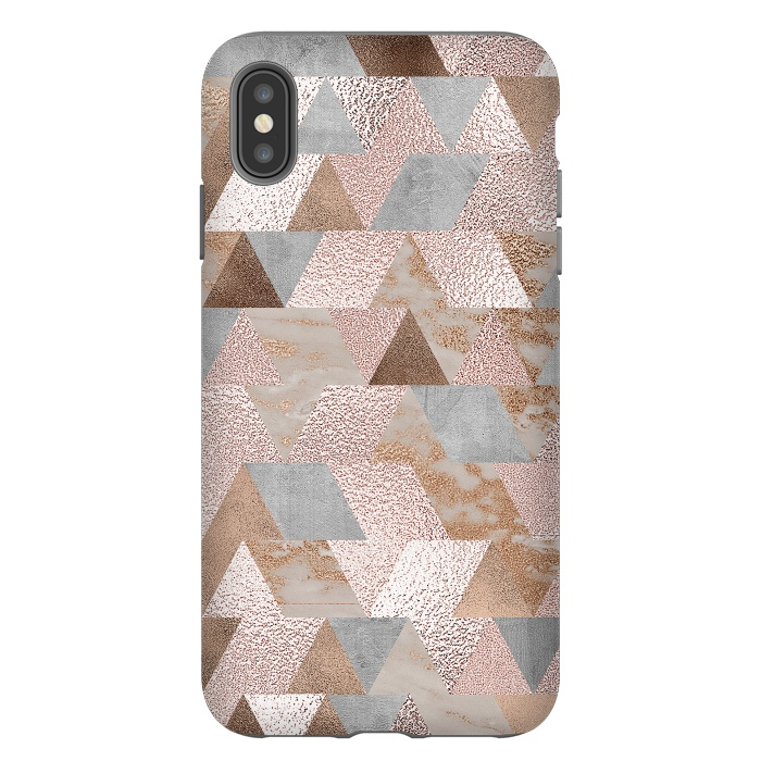 Rose Gold and Copper Triangle Pattern