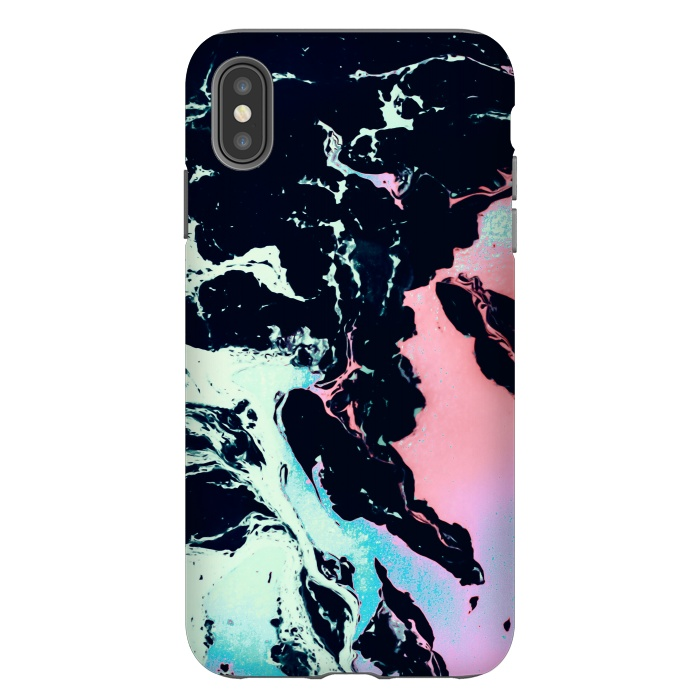 Abstract vibrant marbling