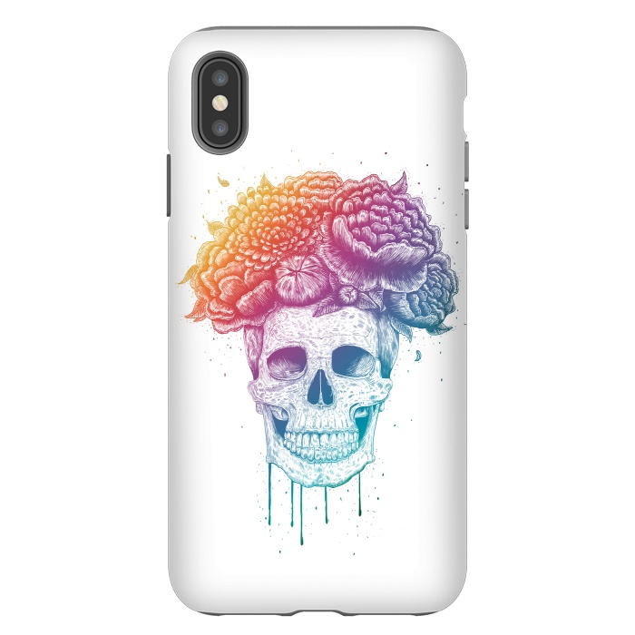 Colorful skull with flowers