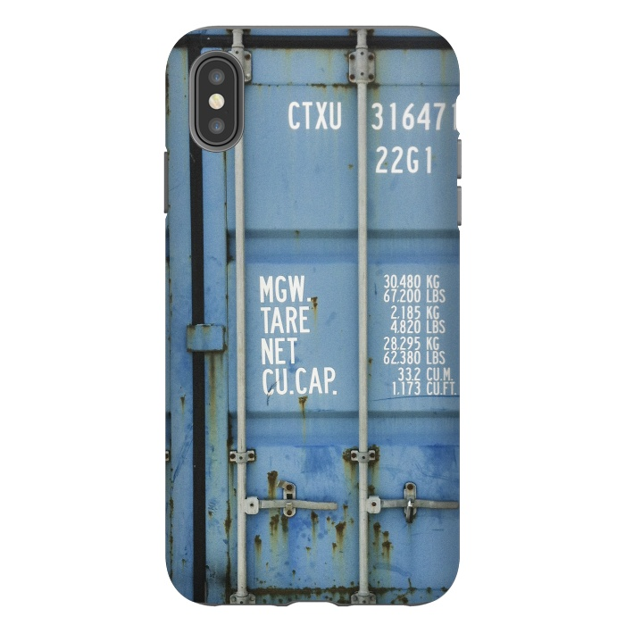 Shipping Containter With Stencil Text