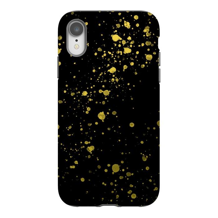 Gold and Black Splatter
