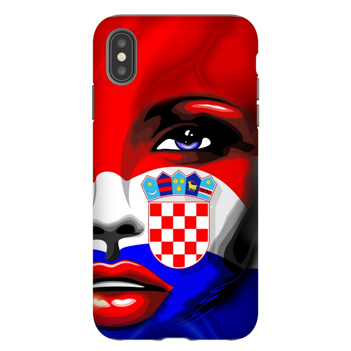 Croatia Flag Beautiful Girl Portrait