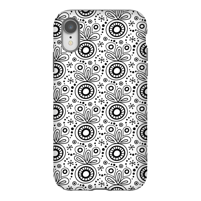 Abstract Doodle Pattern White