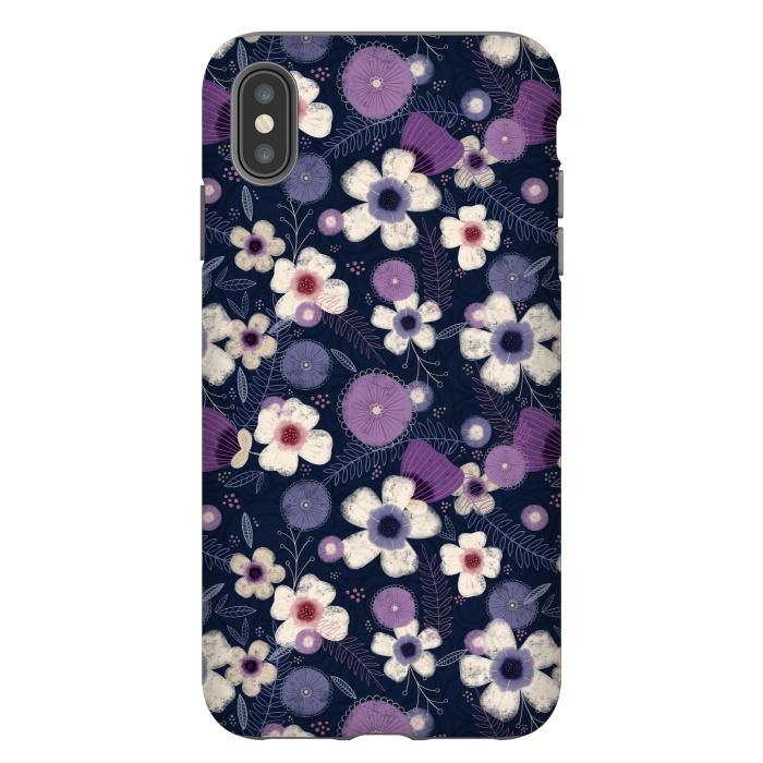 Navy & Purple Floral