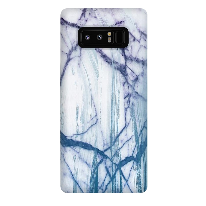 Blue white marble brushstrokes