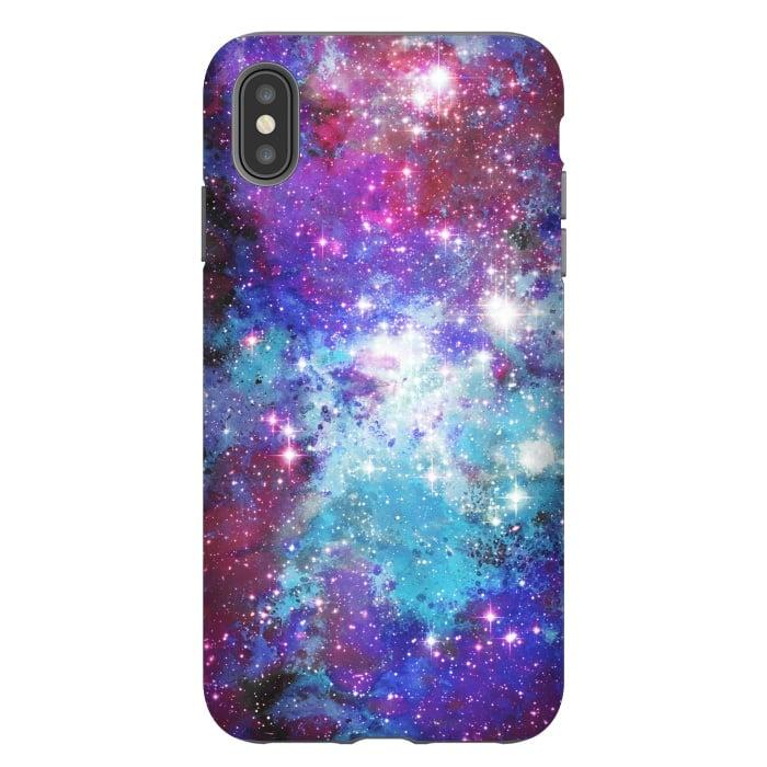 Blue purple galaxy space night stars