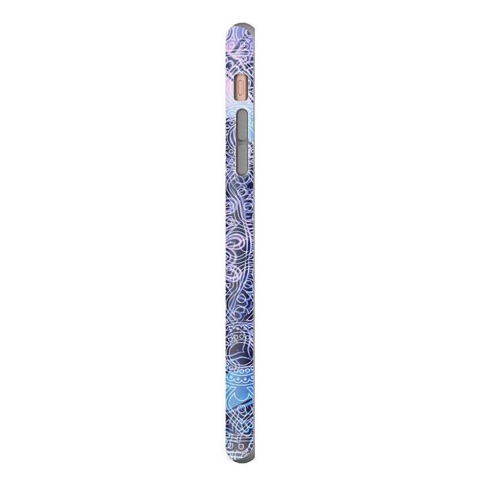 Purple blue ethnic gradient mandala flowers