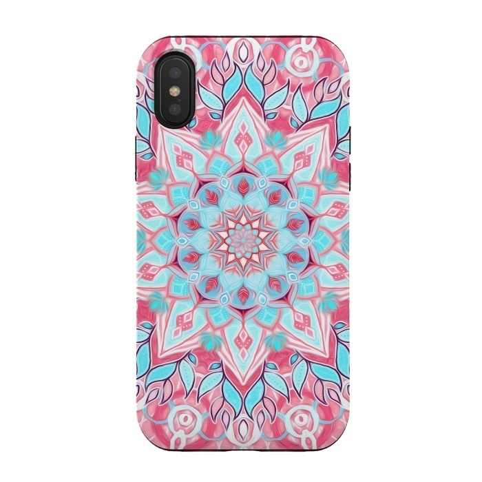 Bright Boho Aqua and Pink Mandala