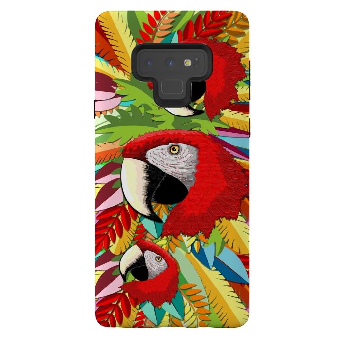 Macaw Parrot Paper Craft Digital Art