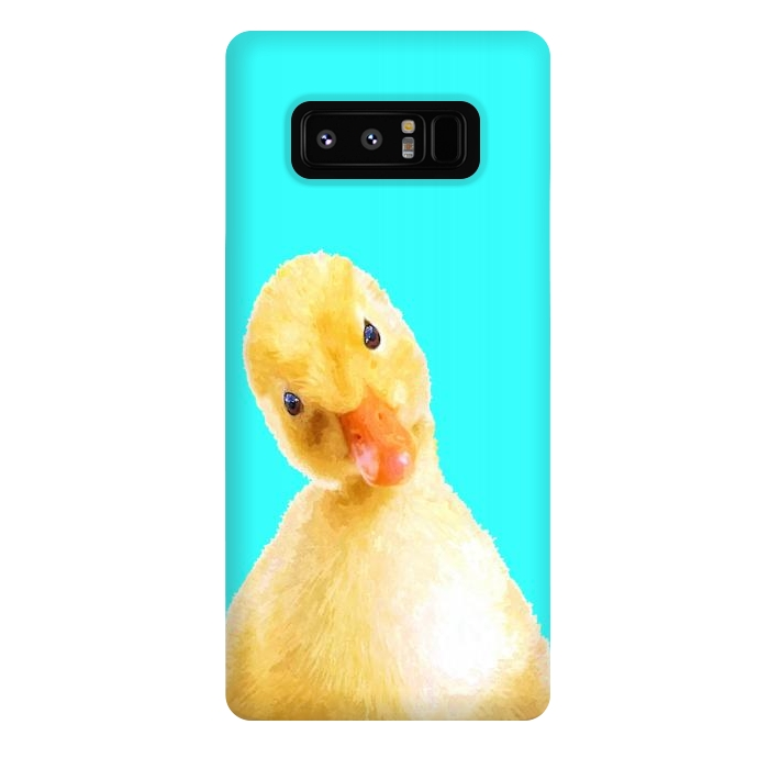 Duckling Turquoise Background