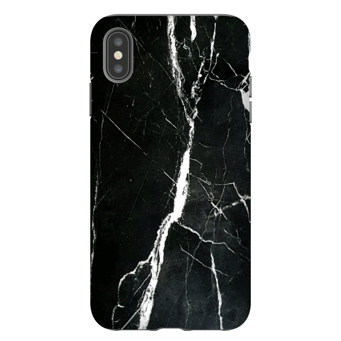 Elegant black marble with white cracks
