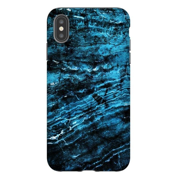 Blue black painted marble