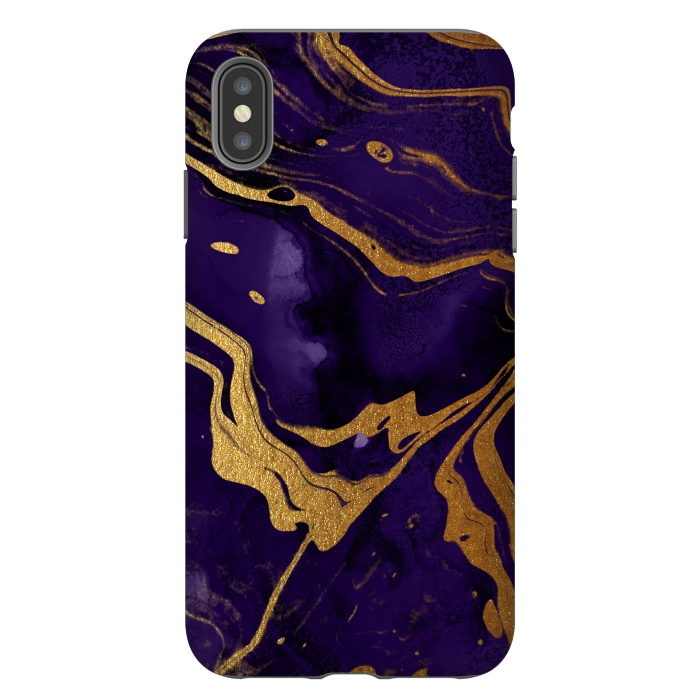 Purple and Gold Marble Ink