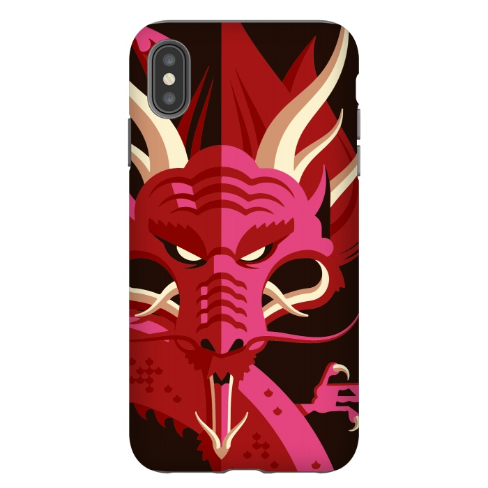 competitive price ccf94 ae56a iPhone Xs Max Cases Red Dragon by Carlos Maciel   ArtsCase