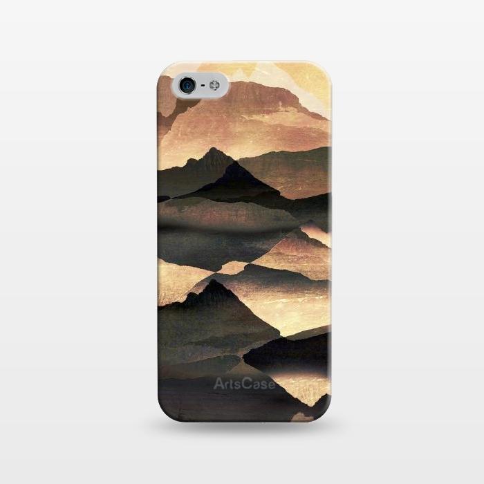 Golden mountains landscape